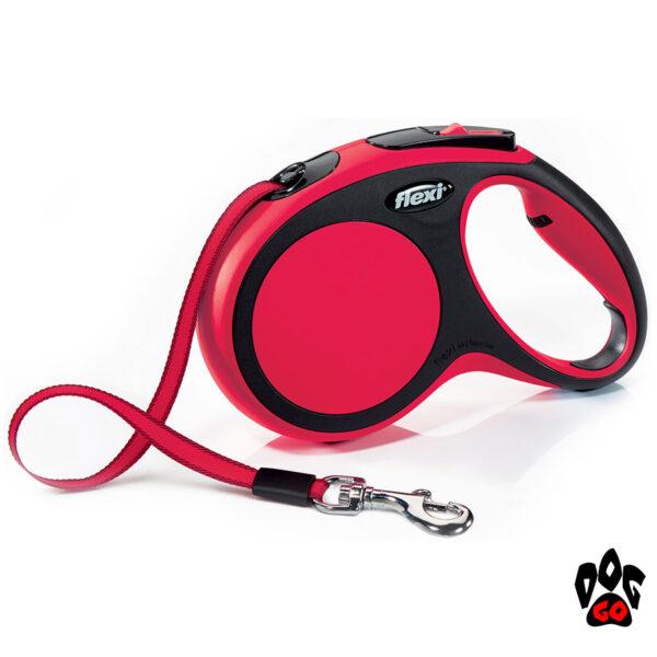 Рулетка FLEXI New Comfort M, 5 метров, до 25 кг, лента, красный
