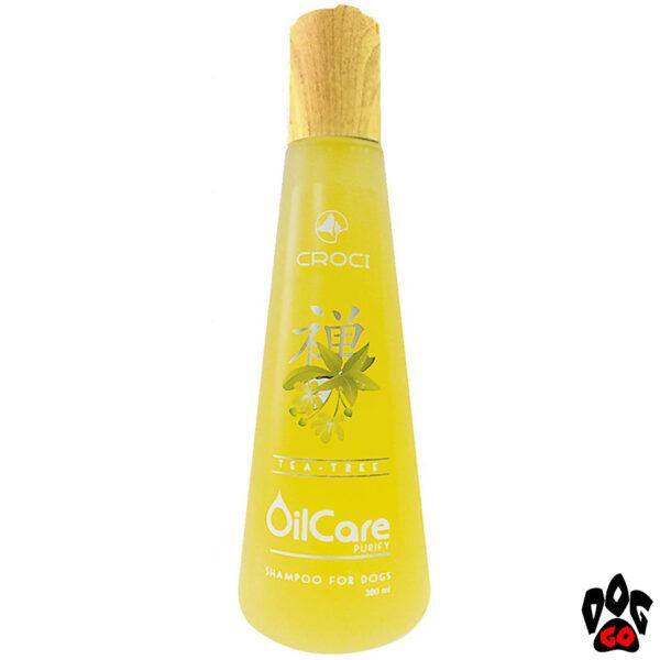 Шампунь для собак от запаха CROCI GILL'S OILCARE с маслом чайного дерева (очищает и дезинфицирует) 300 мл