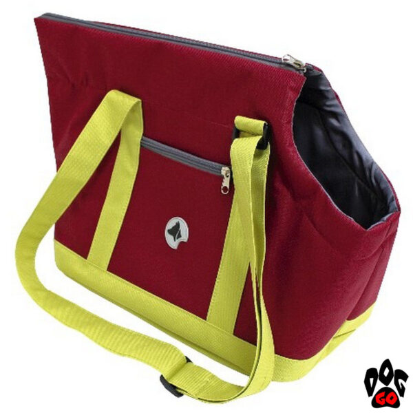 Сумка-переноска для собак и кошек CROCI Giselle 49х23х31см, бордовый+салатовый