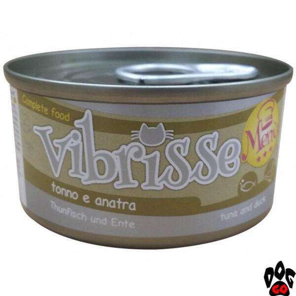 Вибрисс Конcервы для кошек VIBRISSE MENU с тунцом и уткой в соусе, 70 г