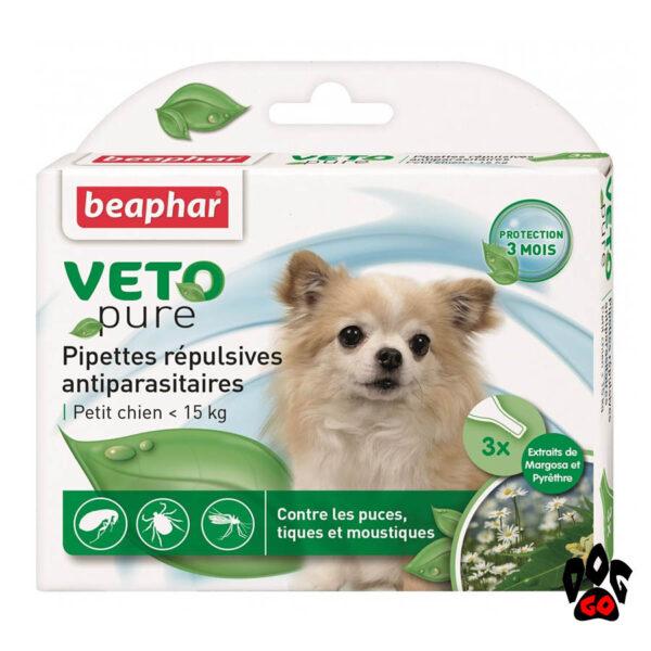БЕАФАР капли от блох для собак до 15 кг, БИО Spot-on (3*1 мл)