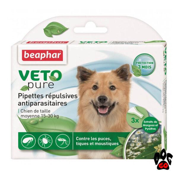 БЕАФАР капли от блох для собак от 15 кг до 30 кг БИО Spot-on (3*2 мл)