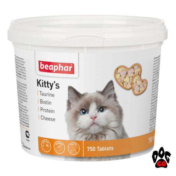 BEAPHAR Kitty's Mix витамины для кошек Таурин + Биотин, 750 табл.