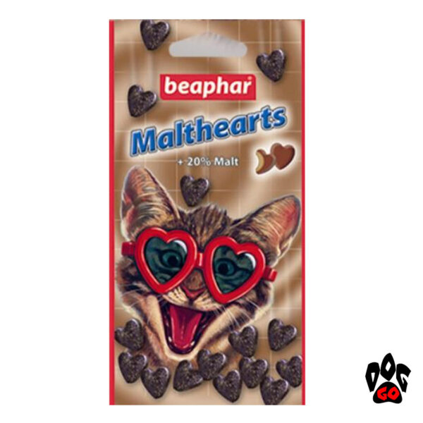 BEAPHAR витамины для вывода шерсти у кошек Malthearts с мальт-пастой, 150 шт