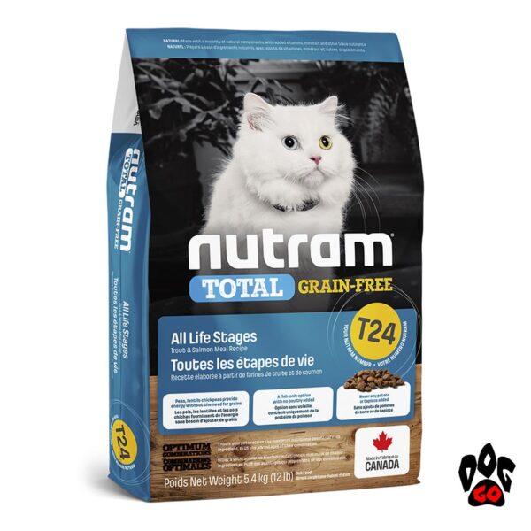 Беззерновой холистик корм для котов NUTRAM T24 с лососем и форелью 1 кг