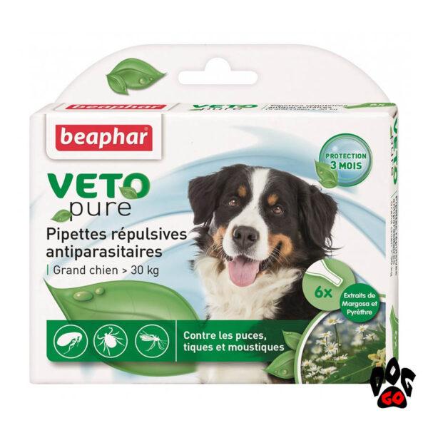 Капли от блох BEAPHAR для собак более 30 кг БИО Spot-on (6*2 мл)