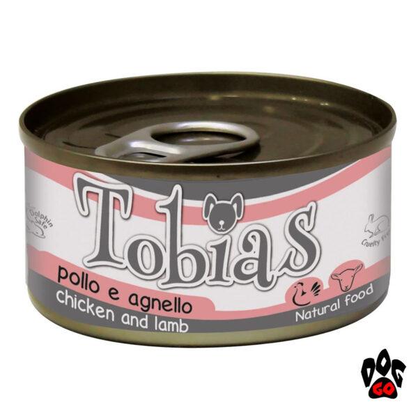 Конcерва для собак TOBIAS CROCI курица+ягненок, 85 г