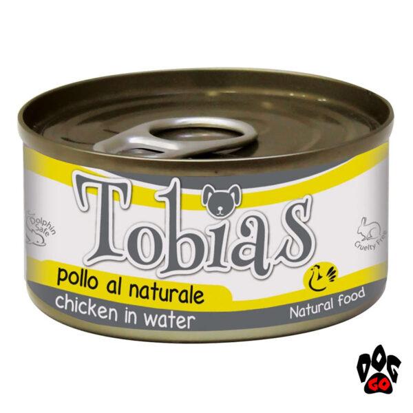 Конcервы TOBIAS для собак, курица в собственном соку, 85 г