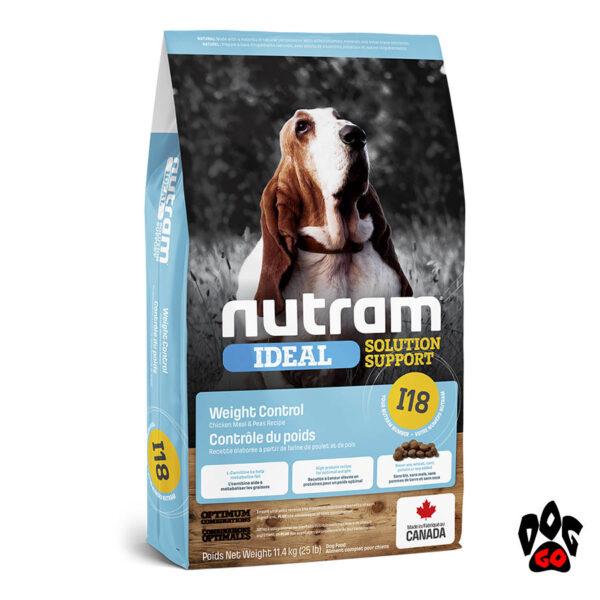 Сухой корм для собак холистик NUTRAM Ideal Solution Support I18 для контроля веса, с курицей, 11.4 кг