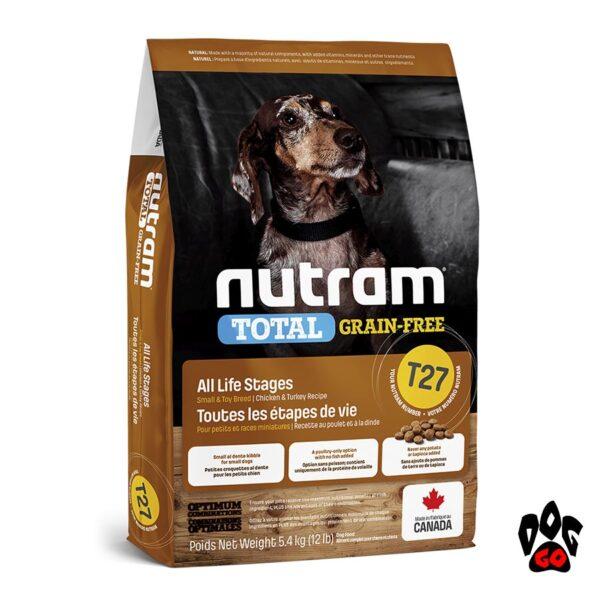 Корм для собак мелких пород NUTRAM T27 Total Grain Free, холистик, беззлаковый, 3 птицы 5.4 кг