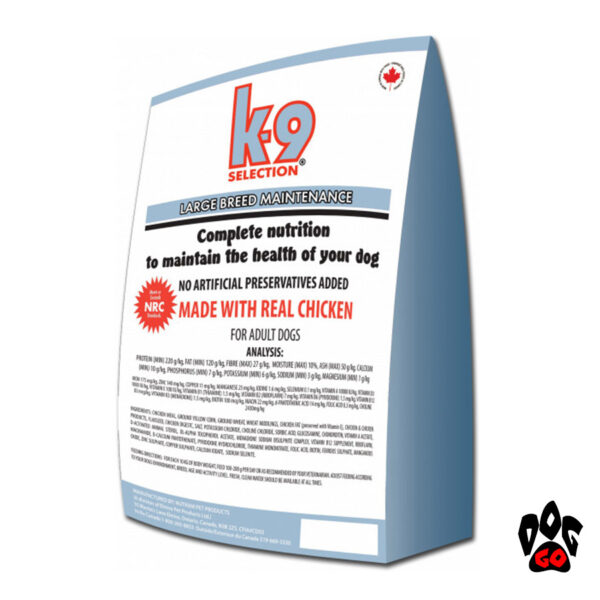 Корм для собак больших пород K9 Selection Large Breed Maintenance с курицей, 20кг