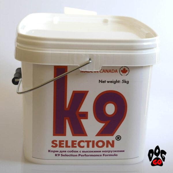 Корм для собак K9 Selection Performance, усиленный, 5 кг (контейнер)