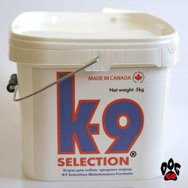Корм для собак средних пород K9 Selection Maintenance Formula, 5 кг (контейнер)