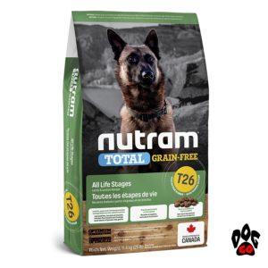NUTRAM беззерновой T26 Корм холистик для собак и щенков, с ягнёнком и чечевицей 2 кг