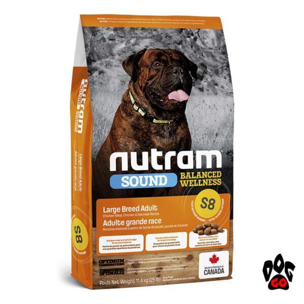 NUTRAM Корм для собак крупных пород S8 с курицей и овсянкой 20кг