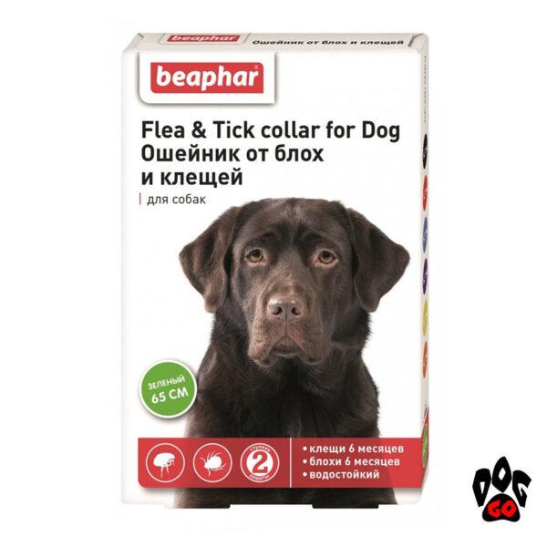 Ошейник для собак от блох и клещей БЕАФАР, 65 см (салатовый)
