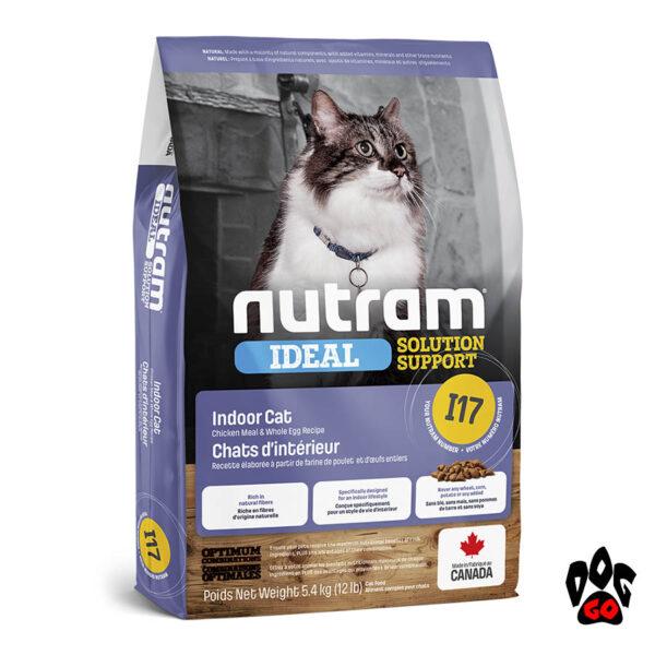 Шерстевыводящий корм для кошек Nutram Ideal I17 с курицей 5.4 кг
