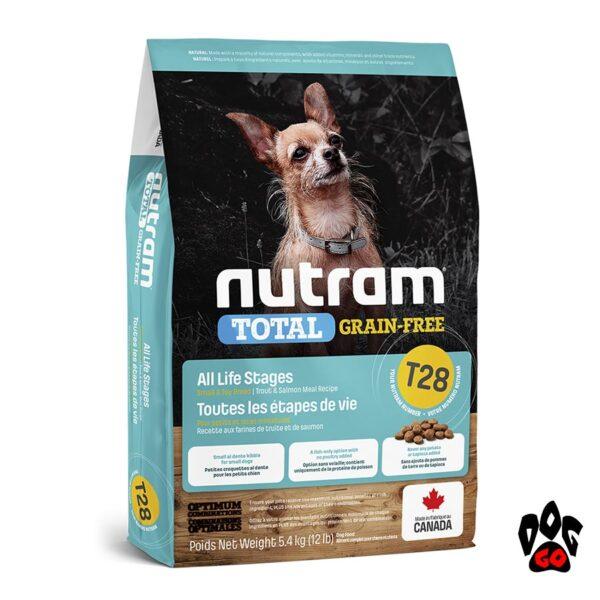 Сухой корм для собак мелких пород NUTRAM T28, холистик, беззлаковый, лосось+форель (на развес) 1кг
