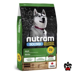 Сухой корм для собак с проблемами ЖКТ NUTRAM S9, холистик c ягненком 11.4 кг