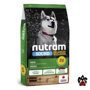 Сухой корм NUTRAM S9 для взрослых собак с ягненком Sound Balanced Wellness 2 кг