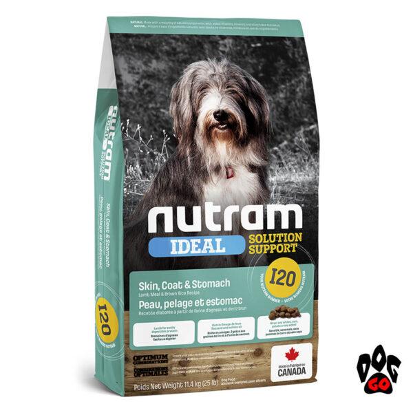 Сухой корм для собак с проблемами пищеварения NUTRAM I20, холистик с ягненком 20 кг