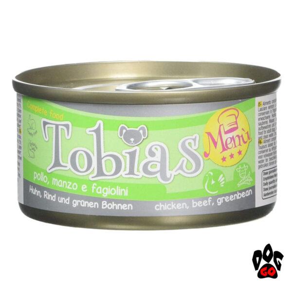 TOBIAS для собак CROCI MENU, курица+говядина+зеленая фасоль, 85 г