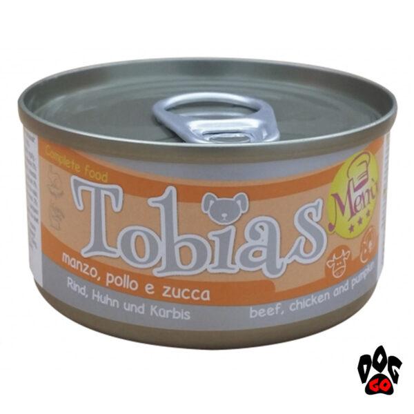 TOBIAS Конcервы для щенков, курица+тыква, 85 г