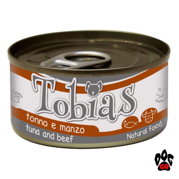 TOBIAS Консерва для собак с тунцом и говядиной CROCI, 170 г