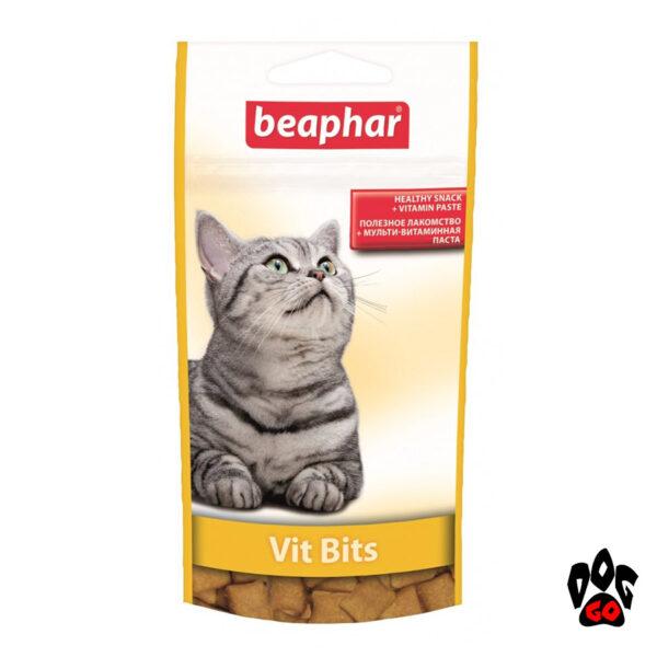 Витаминные лакомства для кошек BEAPHAR Vit Bits подушечки с витаминной пастой для кошек 75 шт