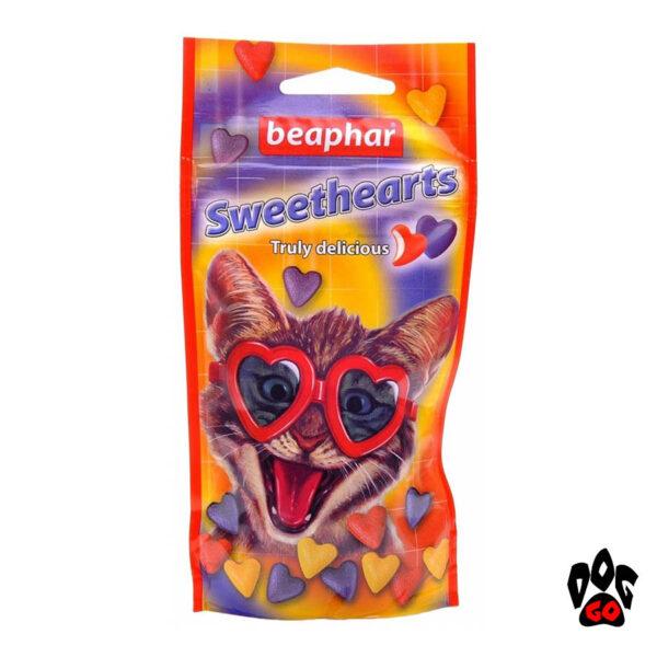 Витамины для котов Сердечки BEAPHAR Sweethearts, 150 шт