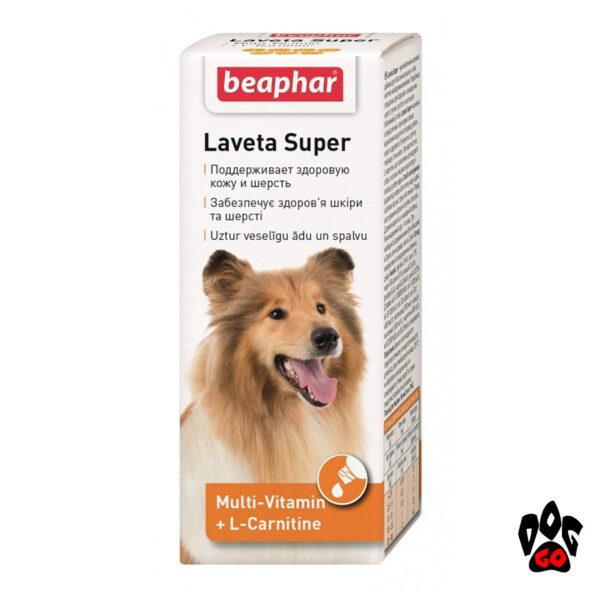 Витамины для шерсти собак BEAPHAR Laveta super, 50 мл
