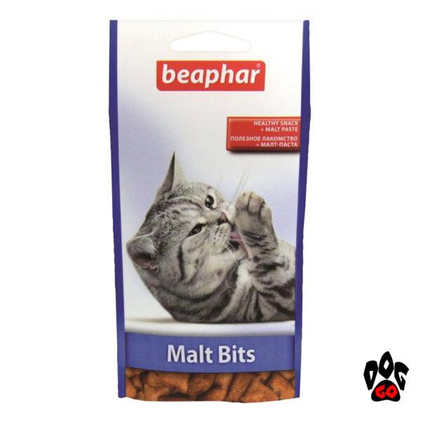 Витамины для выведения шерсти BEAPHAR Malt Bits для кошек, 150 г