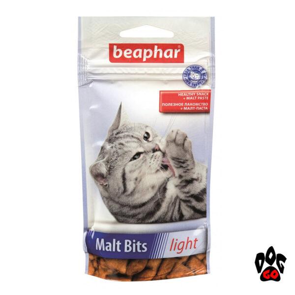 Витамины для вывода шерсти у кошек BEAPHAR Malt Bits Light, 35 г