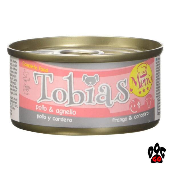Влажные консервы для собак TOBIAS MENU CROCI, курица+ягненок, 85 г