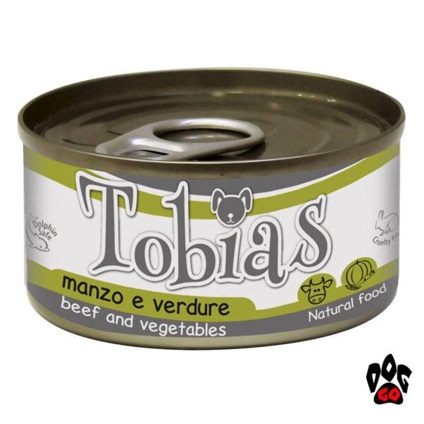 Влажный корм для собак TOBIAS CROCI с говядиной и овощами, 85 г