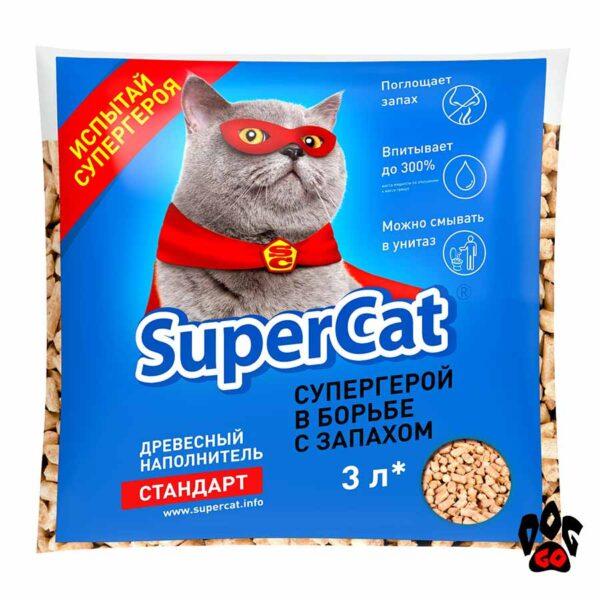 Древесный наполнитель Super Cat Стандарт, 1 кг
