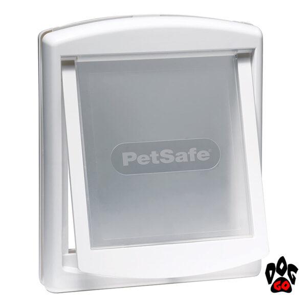 Дверь с лазом для собаки до 18 кг CROCI, белый пластик, 352х294 мм