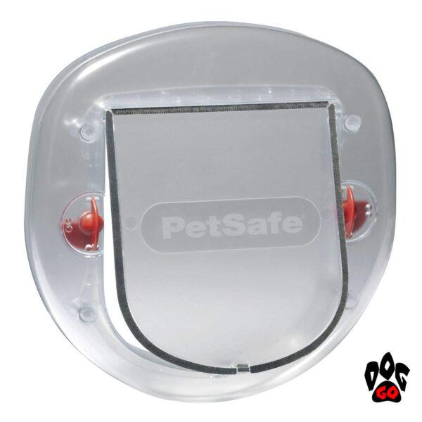 Дверь с лазом для собаки, кошки до 10 кг CROCI, пластик прозрачный, 200х180 мм