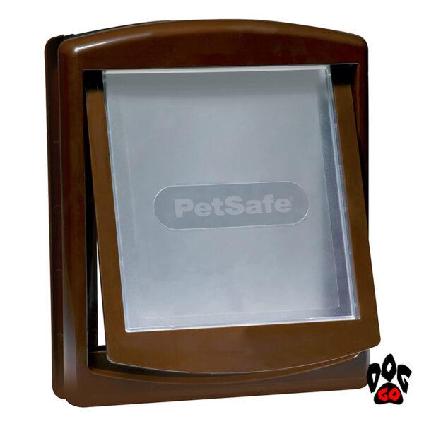 Дверца для собаки в дверь CROCI, пластиковая, до 18 кг, коричневый, 352х294 мм