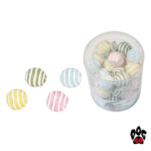 Игрушка для кошек Мячик веревочный CROCI, 4 см