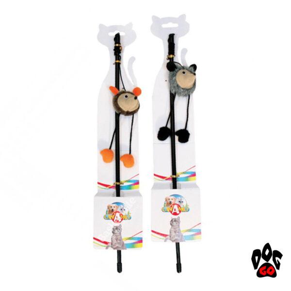 Игрушка для котов CROCI Дразнилка Лесные звери, 46 см