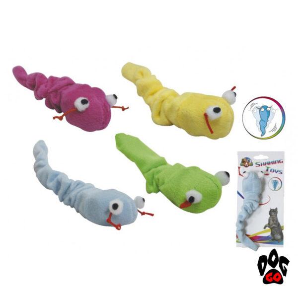 Игрушки для котов CROCI Гремучая змейка, плюш, 13 см
