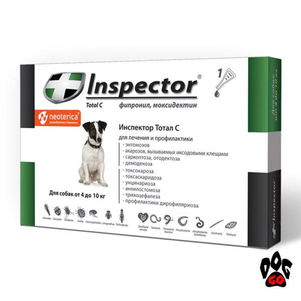 Капли Инспектор для собак 4-10 кг Inspector Total C