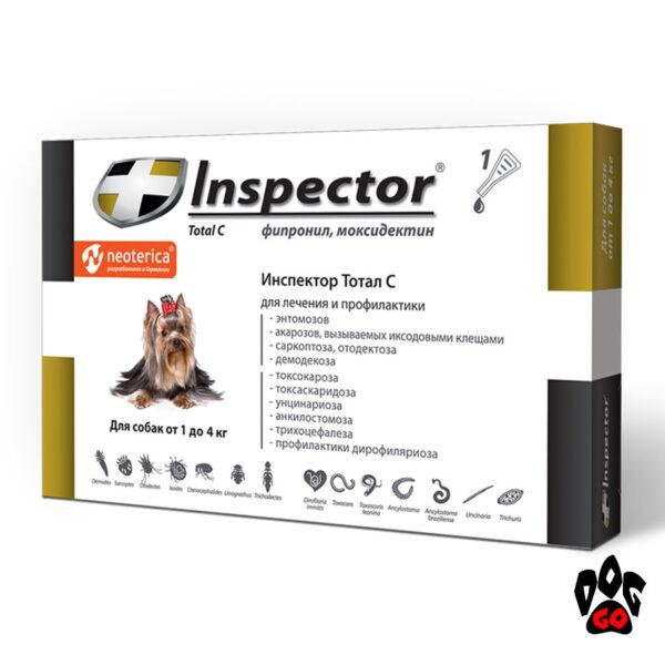 Капли от блох для собак до 4 кг Inspector Total C