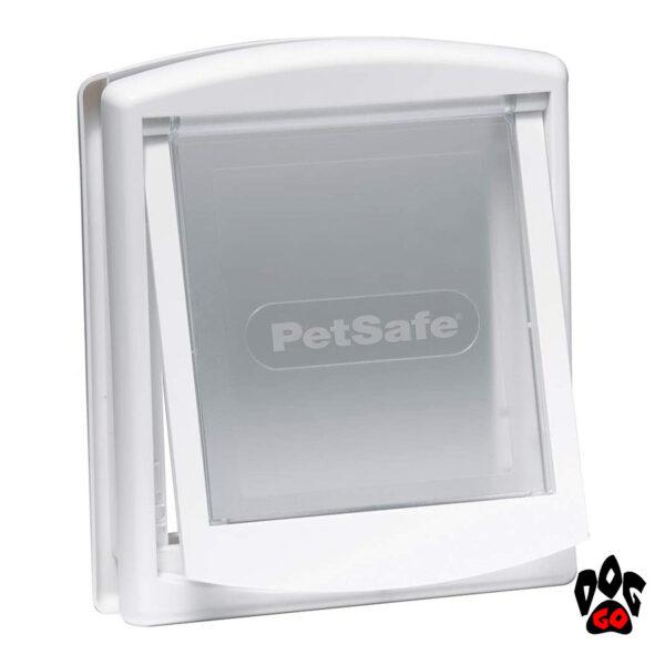 Лаз для собаки в двери CROCI, белый пластик, до 7 кг, 236x198 мм