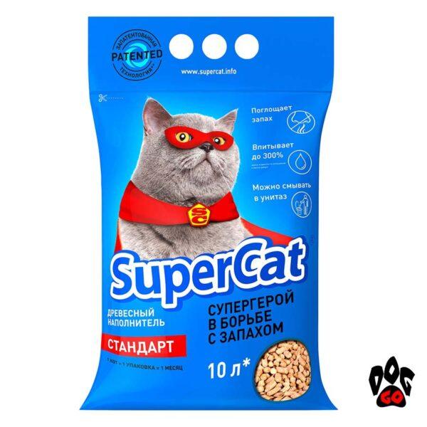 Наполнитель Super Cat Стандарт COLLAR древесный, 3 кг