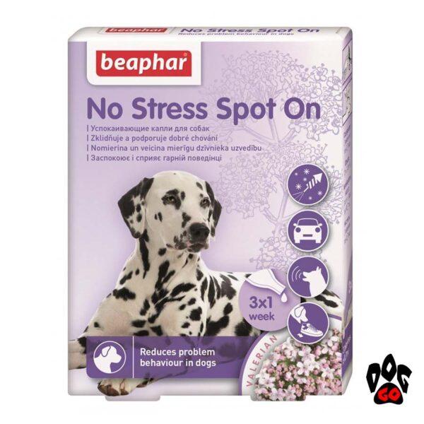 Успокоительное для собак BEAPHAR No Stress Spot On, 3 пип