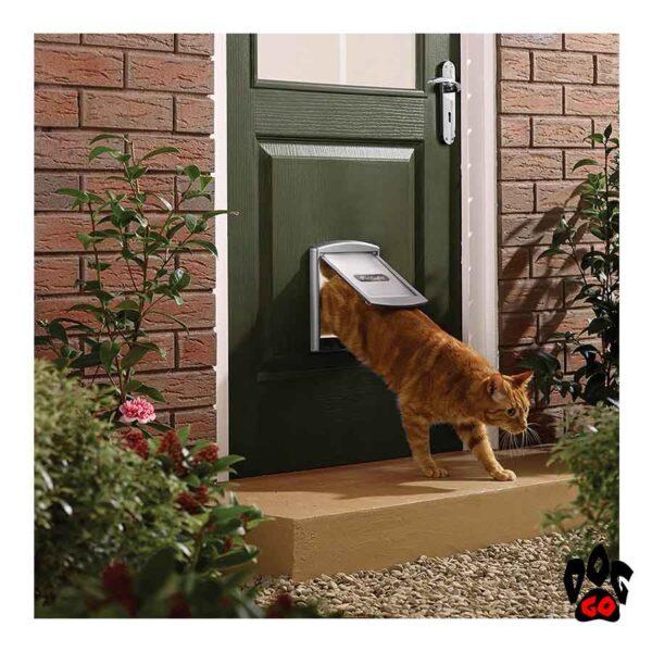 Врезная дверь для собак CROCI (до 7 кг, серый пластик, 236x198мм) - 2