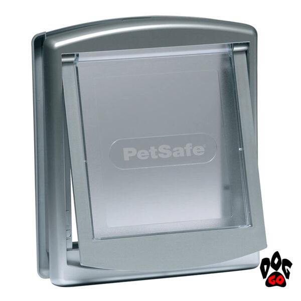 Врезная дверь для собак CROCI (до 7 кг, серый пластик, 236x198мм)