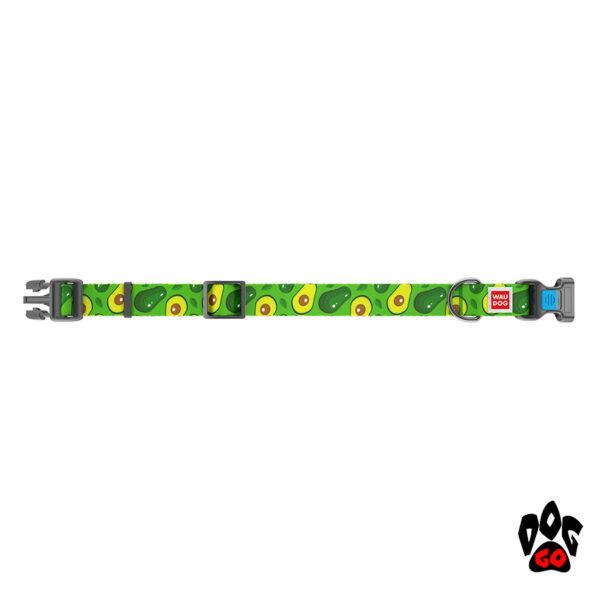 COLLAR Ошейник для маленьких собак WAUDOG Nylon с рисунком, XS (23-35 см) - Авокадо-2